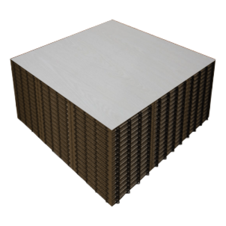 IVORY WHITE WOOD 9x9 Panels